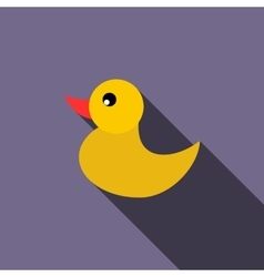 Duckling for a child icon flat style vector