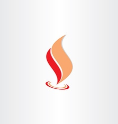 Fire flame icon abstract logo element vector