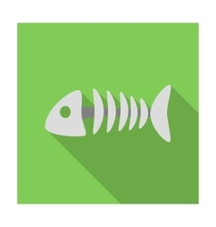 Fish bone icon of for web and vector