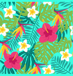 floral tropic seamless pattern vector image vector image