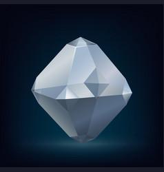Glass crystal vector