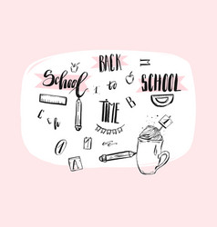 hand drawn abstract school theme doodle vector image