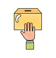Hand human with urn vector