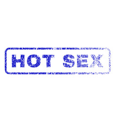 hot sex rubber stamp vector image