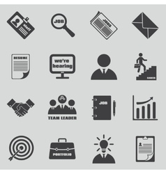 Job icons set Human resources and vector image vector image