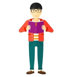 Man reading book vector image