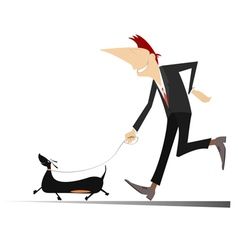 Man with a dog vector