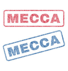 Mecca textile stamps vector