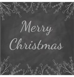 Merry christmas chalkboard vector