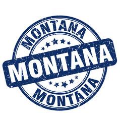 Montana blue grunge round vintage rubber stamp vector