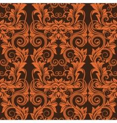 orange seamless wallpaper vector image vector image