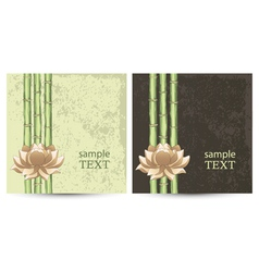 Postcard with abstract floral background vector image vector image