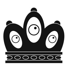 Queen crown icon simple style vector