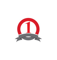 ribbon symbols and logo icons template vector image