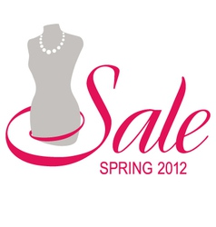 sale sign dummy vector image