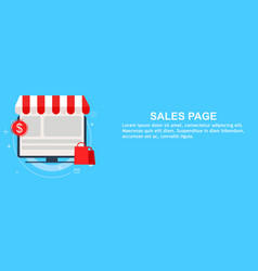 Sales landing page onine shopping vector