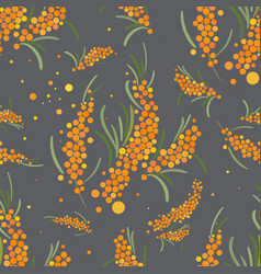 seabuckthorn seamless pattern abstract vector image vector image
