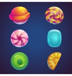 Set of multi colored jelly sweets vector image