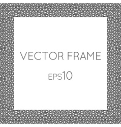 Square flower frame for text images vector