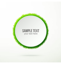 text with grass vector image