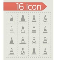 Traffic cone icon set vector