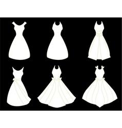 White dresses vector