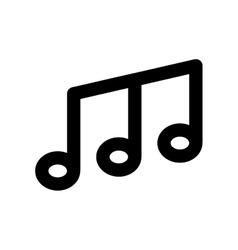 Music note melody sound icon graphic vector