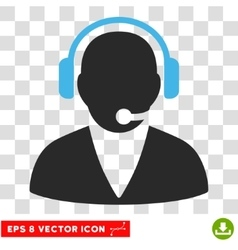 Support operator eps icon vector