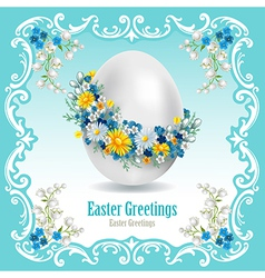 Vintage easter card vector