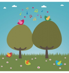happy birds vector image