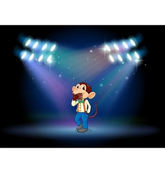 A monkey acting at the stage vector image