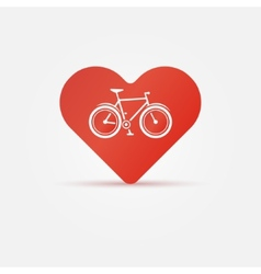 Bright i love my bike icon vector