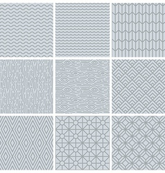 Set of simple mono line patterns vector
