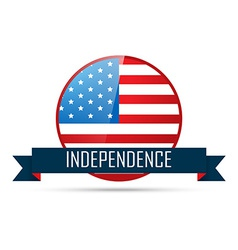 4th of july badge vector image