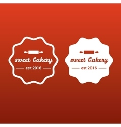 Symbol of sweet bakery vector