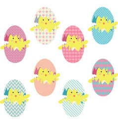 Easter chicks eggs collections vector