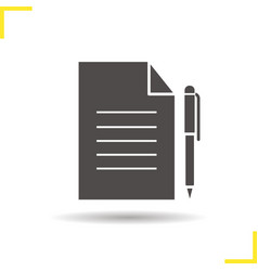 Contract icon vector