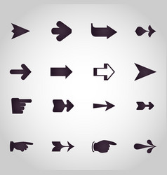 Arrows logo design icon set vector