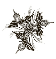 Artistic butterflies pattern vector image vector image