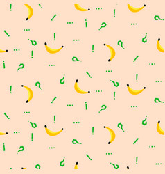 Banana and punctuation marks simple vetor seamless vector