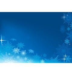 Blue Abstract Xmas Background vector image vector image
