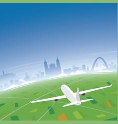 Bogota skyline flight destination vector