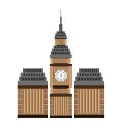 british building view graphic vector image