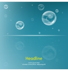 Bubbles on blue background vector image