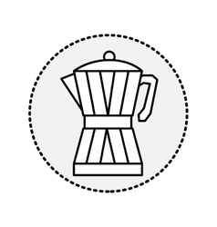 Circular sticker silhouette glass jar of coffee vector