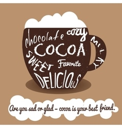 Cocoa vintage card vector