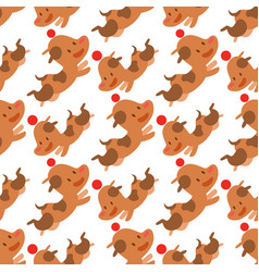 cute dogs characters seamless vector image