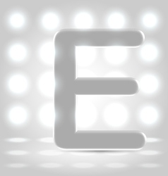 E over lighted background vector image vector image