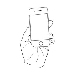 hand hold mobile2 vector image vector image