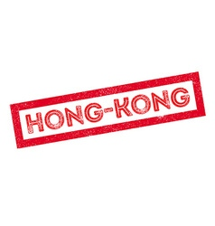 Hong-kong rubber stamp vector